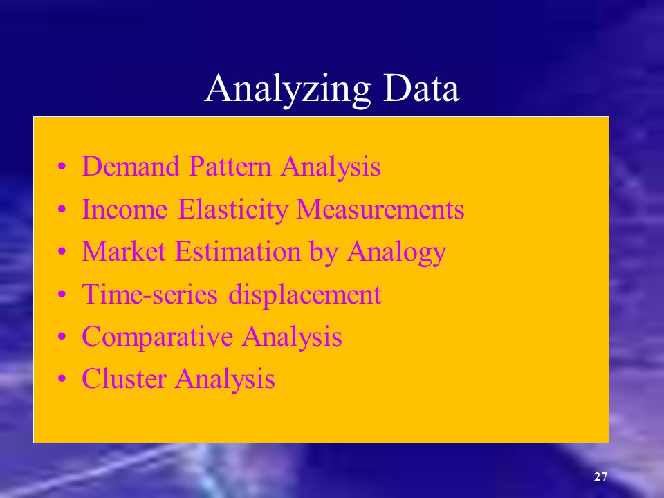 Analyzing Data Demand Pattern Analysis Income Elasticity Measurements