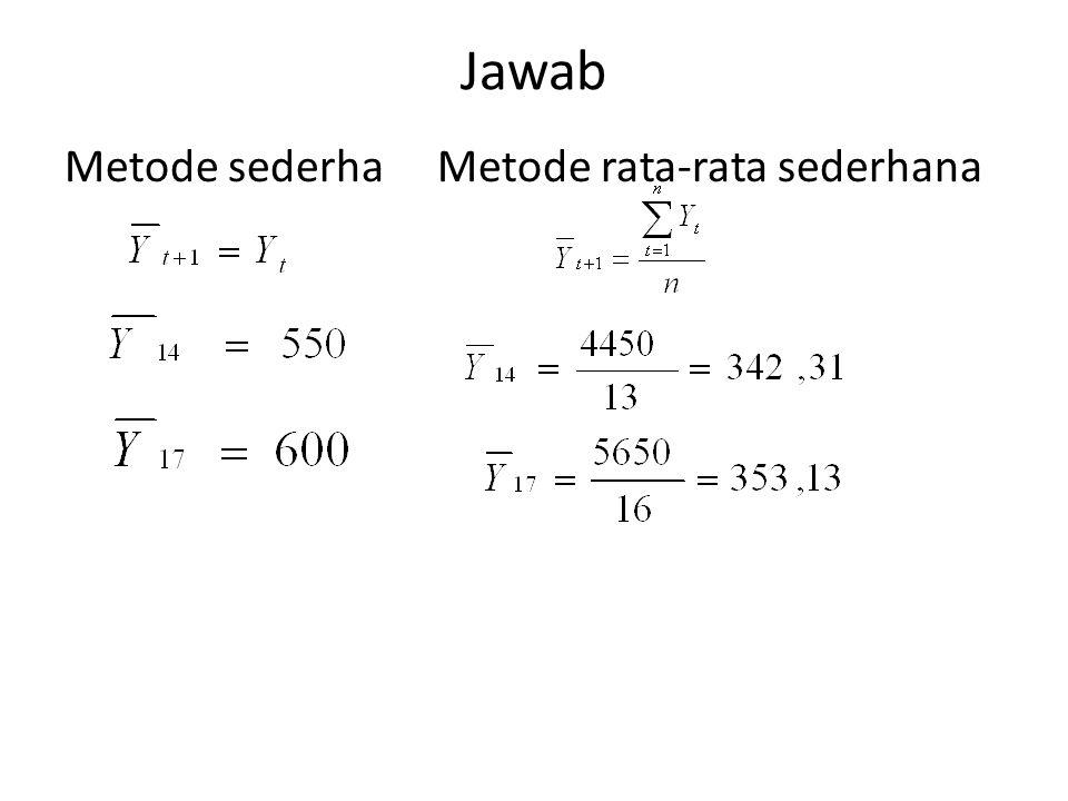 Jawab Metode sederha Metode rata-rata sederhana