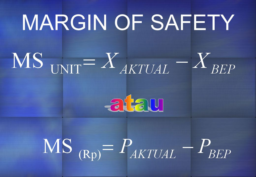 MARGIN OF SAFETY atau