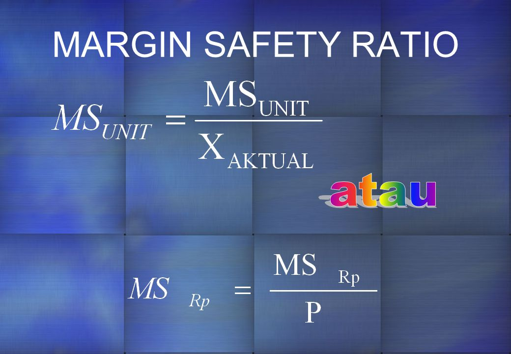 MARGIN SAFETY RATIO atau