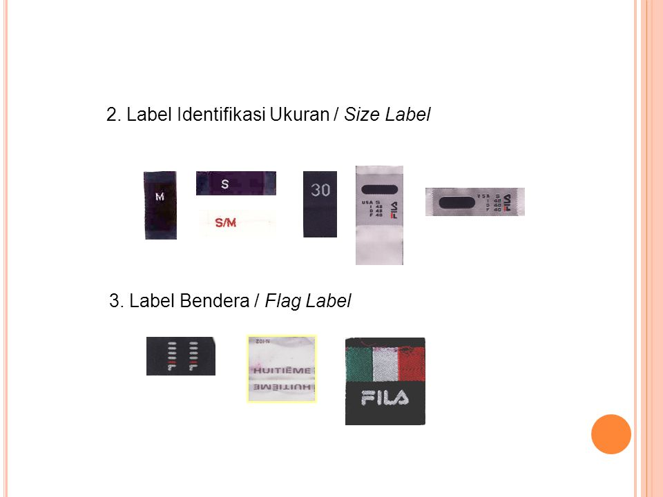 2. Label Identifikasi Ukuran / Size Label