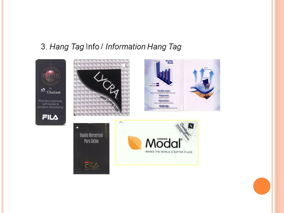 3. Hang Tag Info / Information Hang Tag