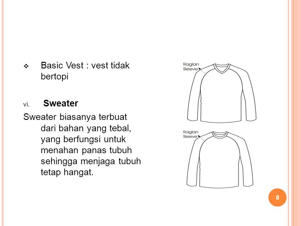 Basic Vest : vest tidak bertopi