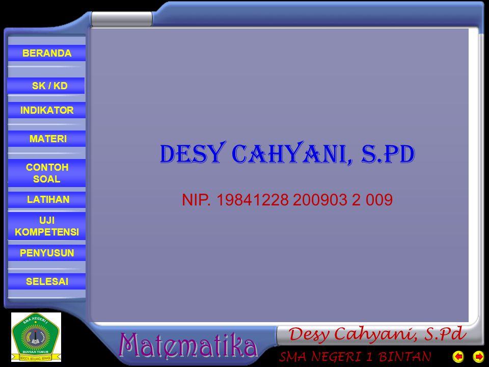 DESY CAHYANI, S.Pd NIP. 19841228 200903 2 009