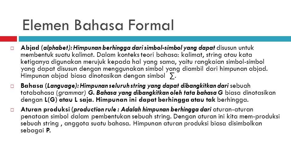 Elemen Bahasa Formal