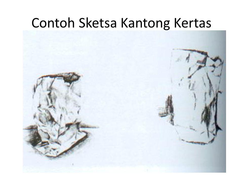 Contoh Sketsa Kantong Kertas