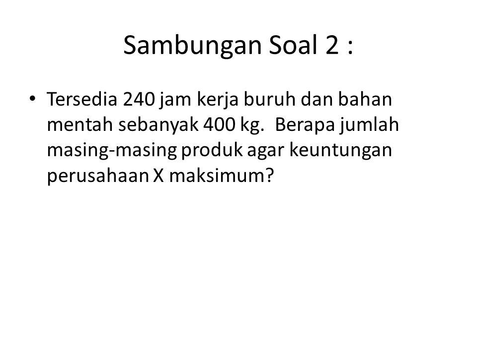 Sambungan Soal 2 :