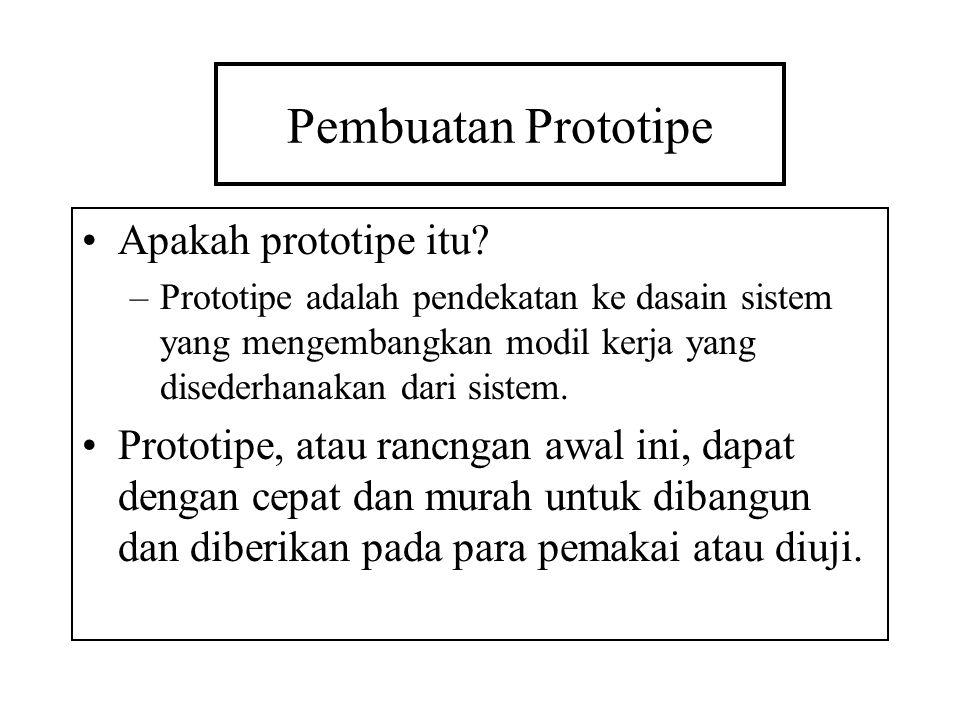 Pembuatan Prototipe Apakah prototipe itu