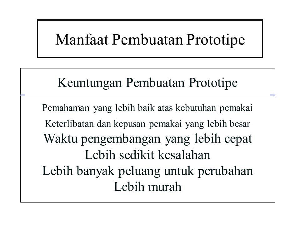 Manfaat Pembuatan Prototipe