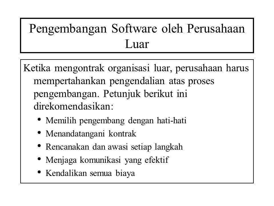 Pengembangan Software oleh Perusahaan Luar