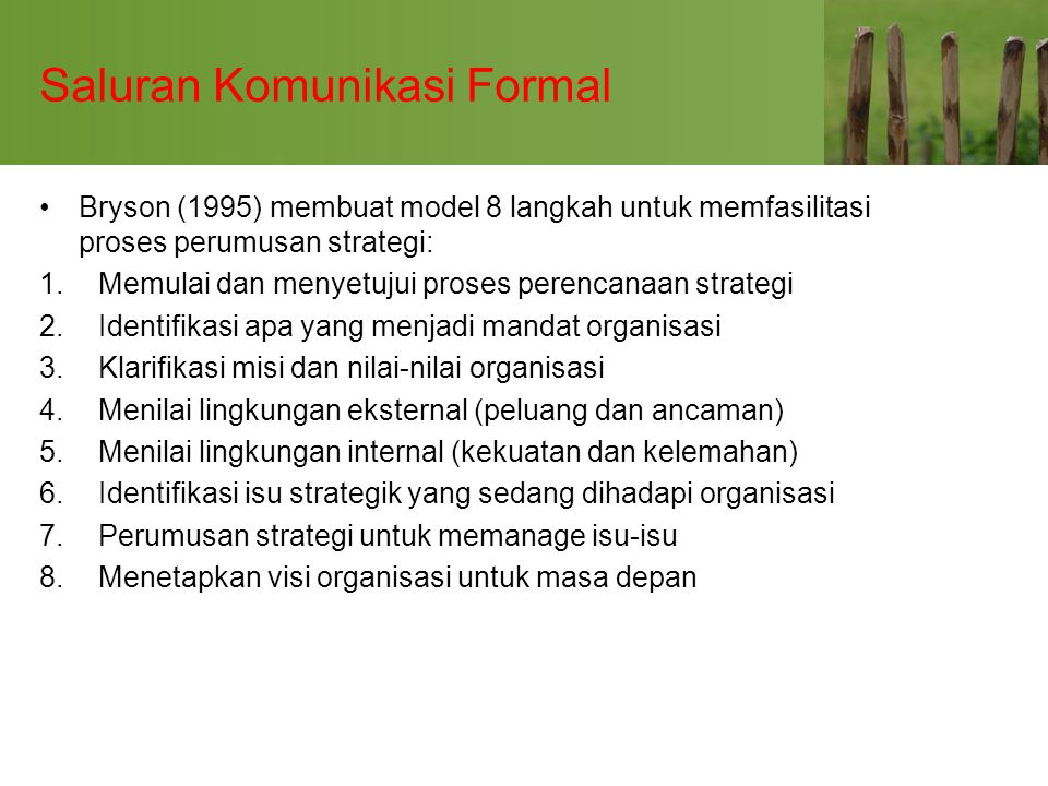 Saluran Komunikasi Formal