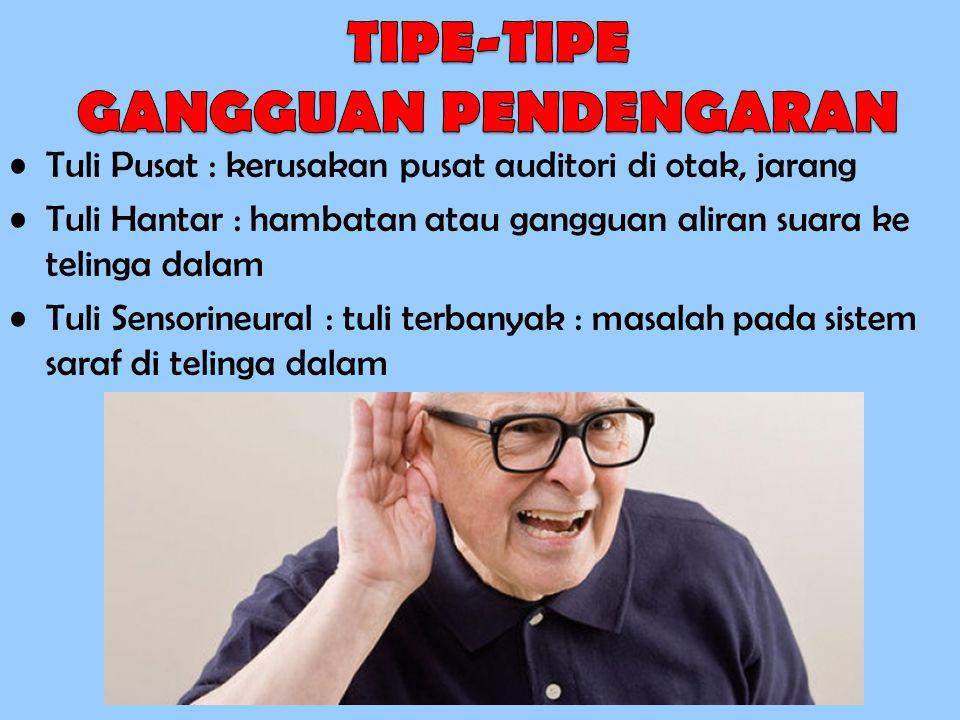 TIPE-TIPE GANGGUAN PENDENGARAN