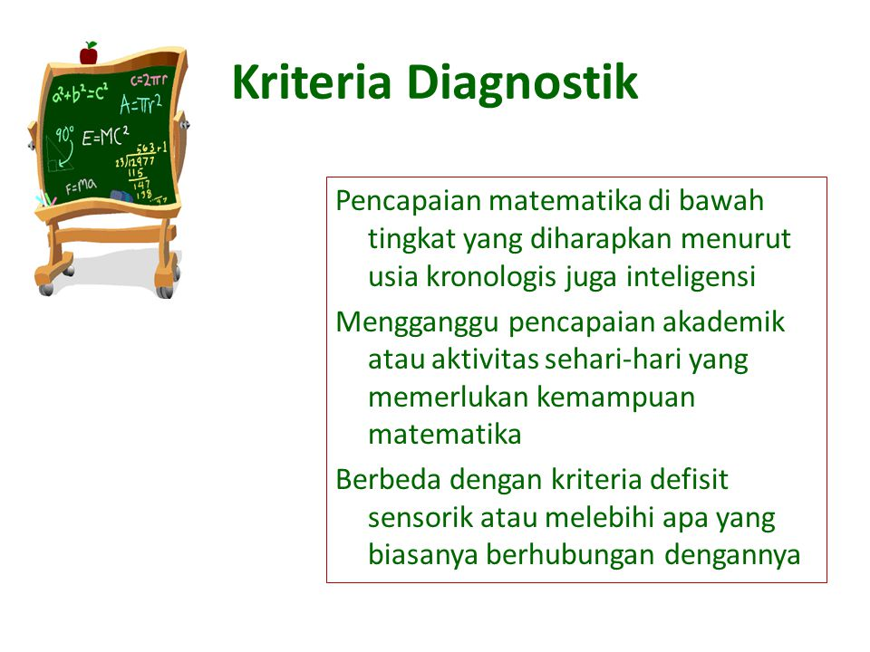 Kriteria Diagnostik