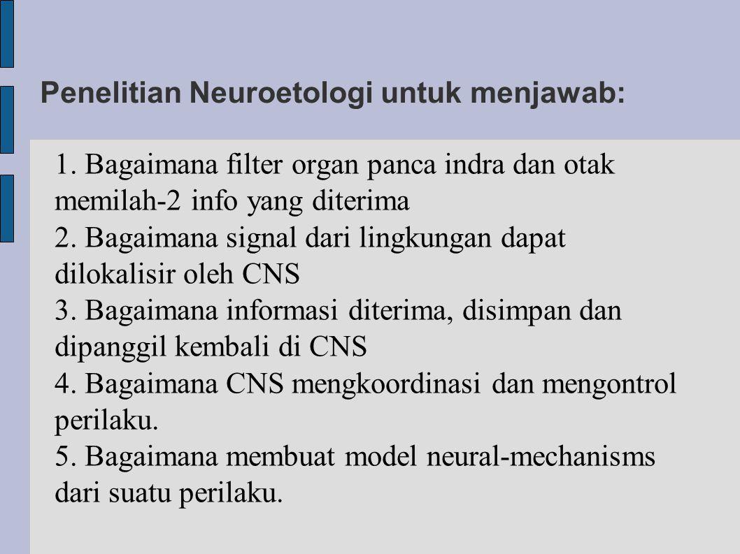Penelitian Neuroetologi untuk menjawab: