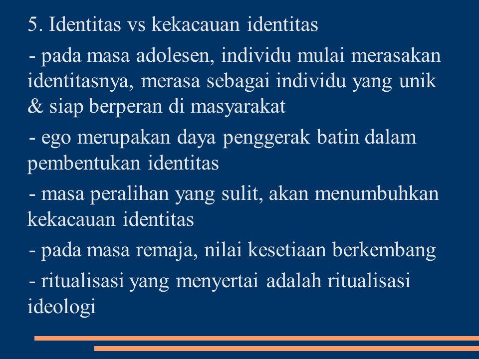 5. Identitas vs kekacauan identitas