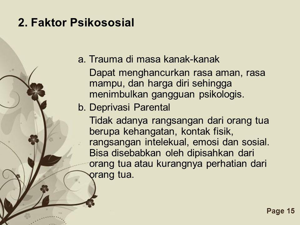 2. Faktor Psikososial