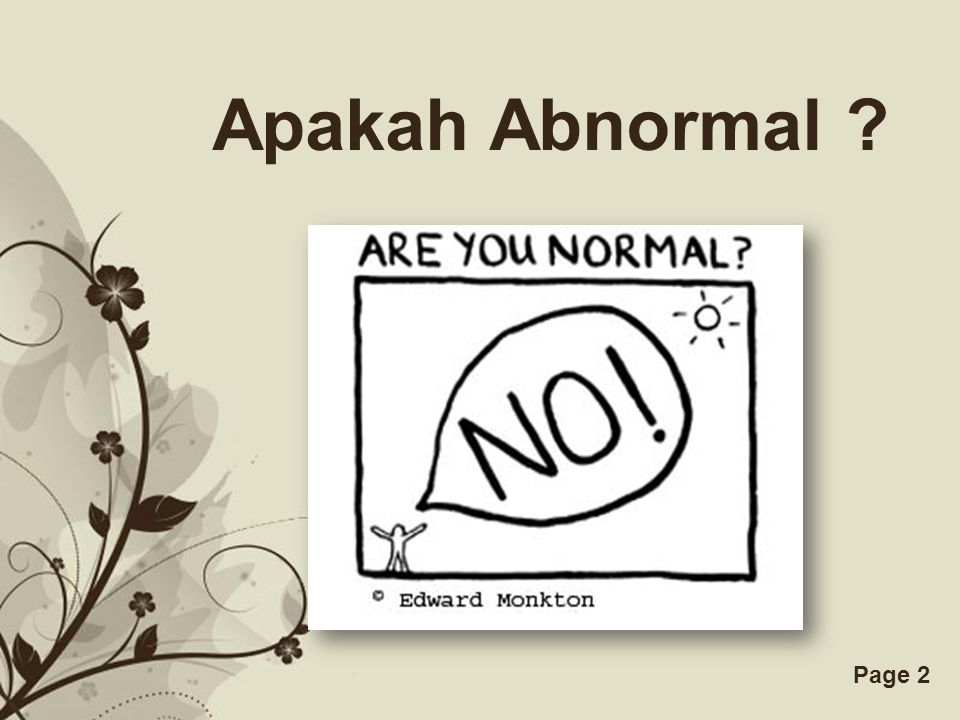 Apakah Abnormal