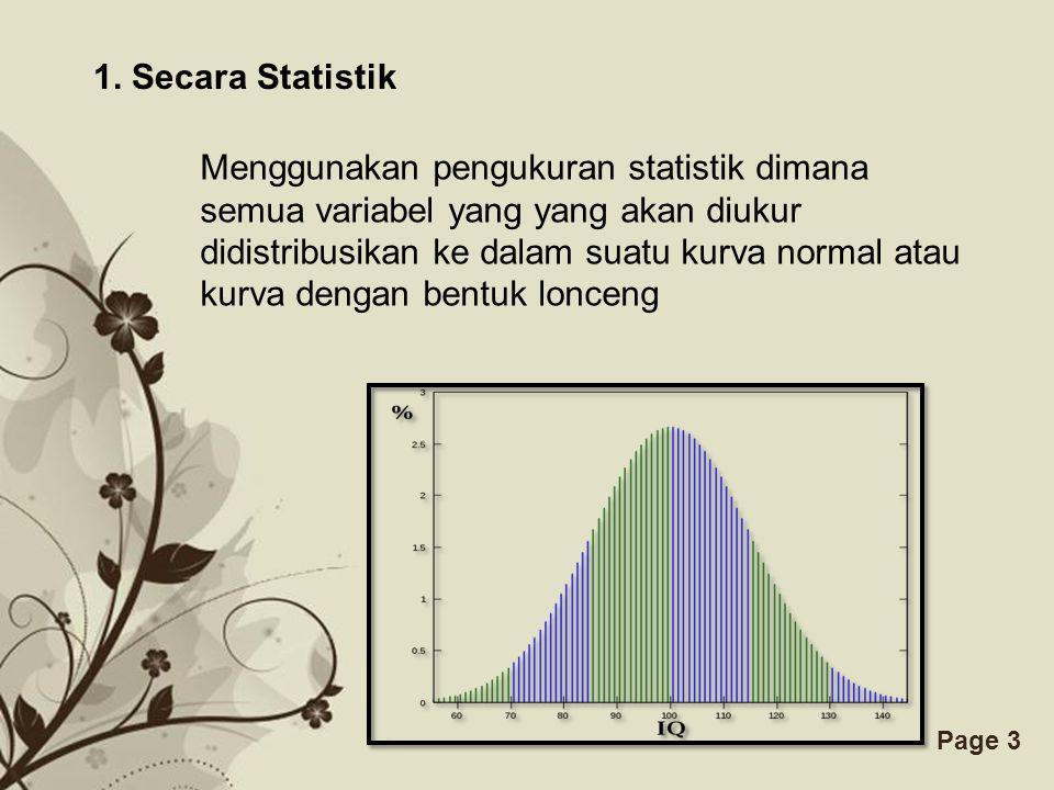 1. Secara Statistik