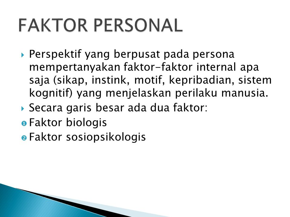 FAKTOR PERSONAL