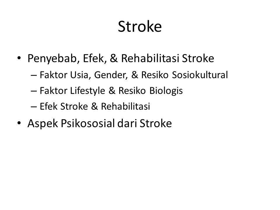 Stroke Penyebab, Efek, & Rehabilitasi Stroke