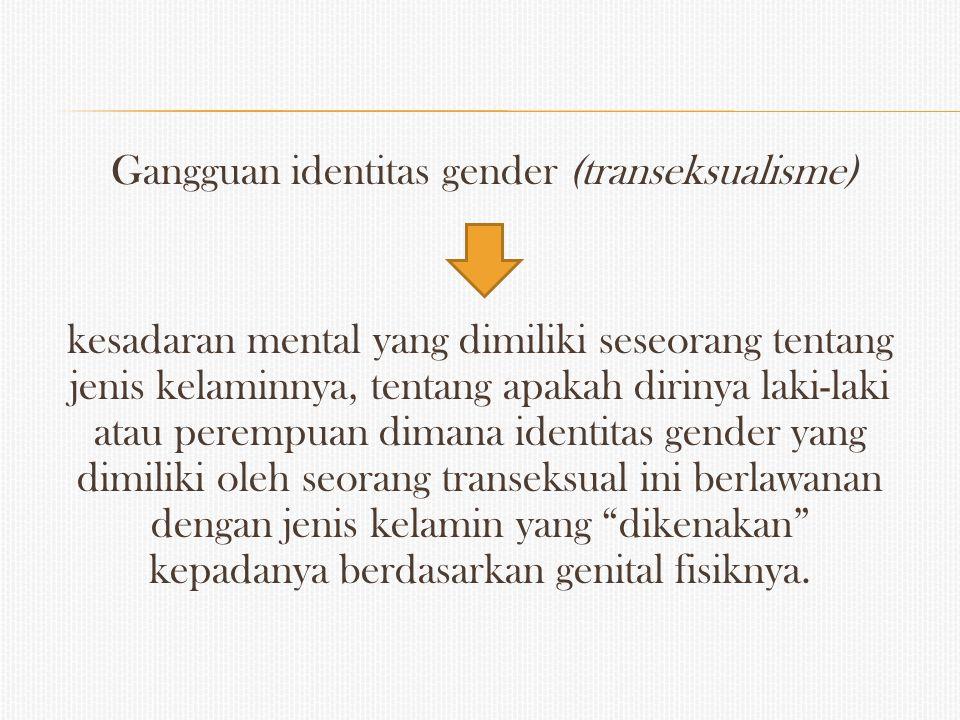 Gangguan identitas gender (transeksualisme)