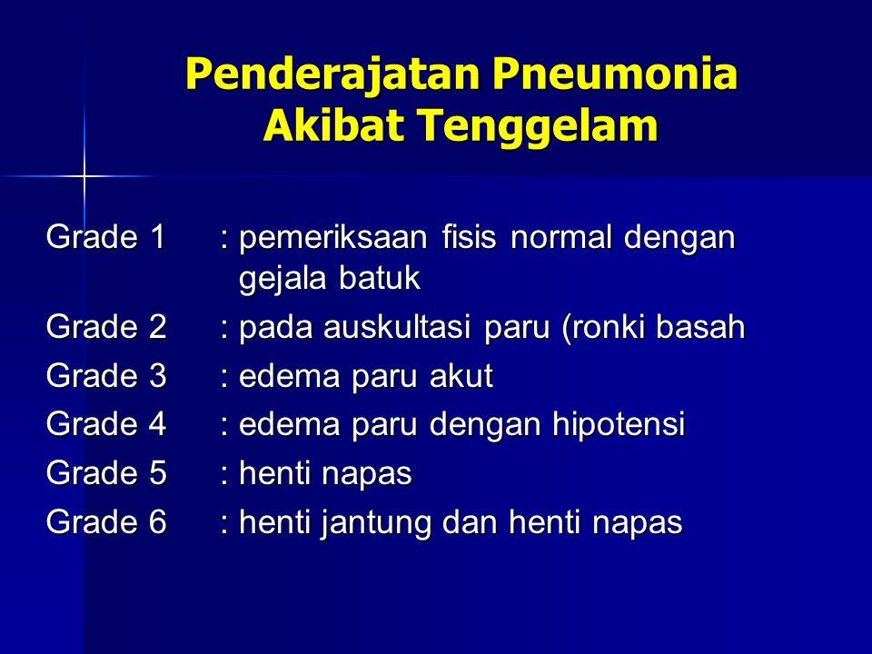 Penderajatan Pneumonia Akibat Tenggelam