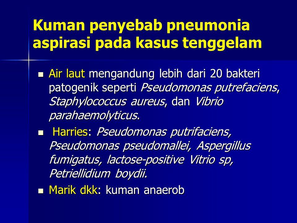 Kuman penyebab pneumonia aspirasi pada kasus tenggelam