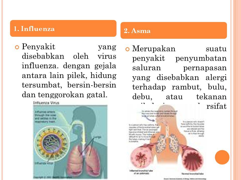 1. Influenza 2. Asma.