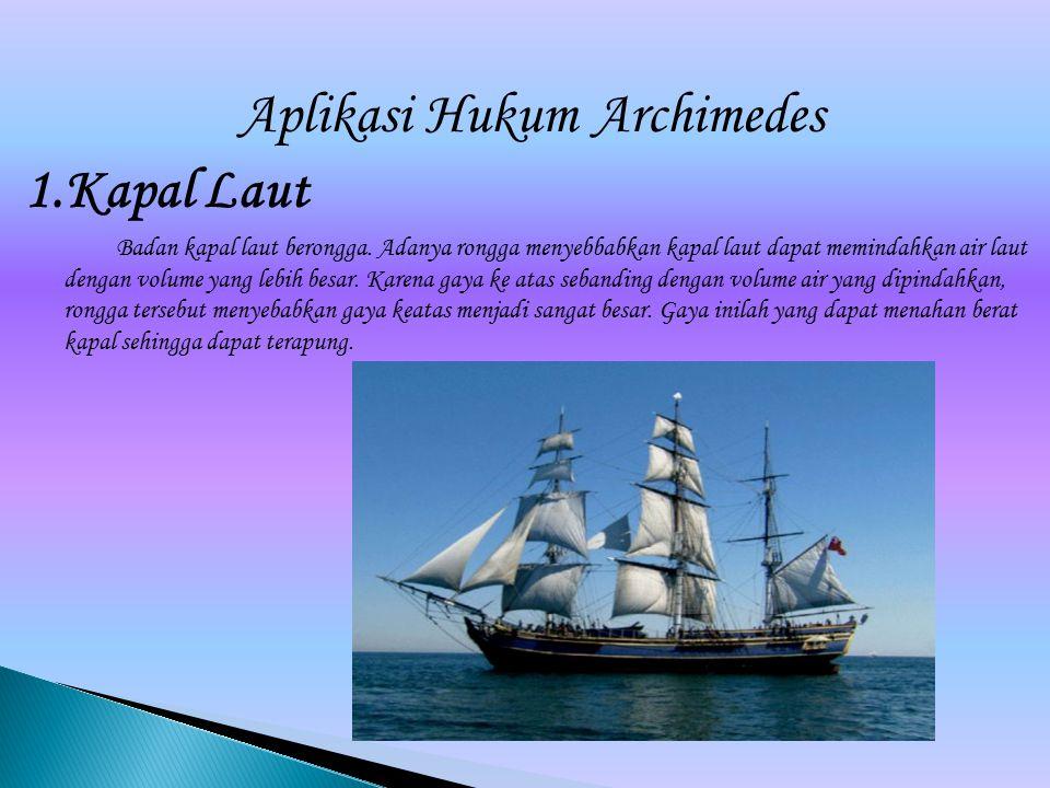 Aplikasi Hukum Archimedes