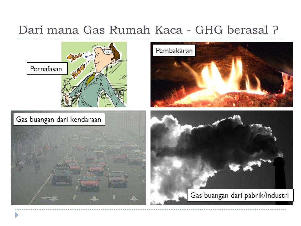 Dari mana Gas Rumah Kaca - GHG berasal