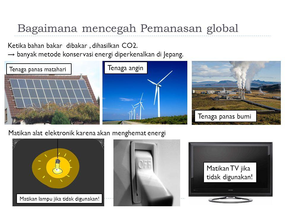 Bagaimana mencegah Pemanasan global
