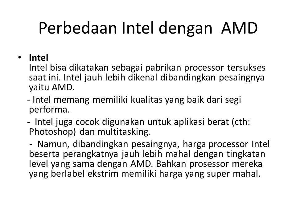 Perbedaan Intel dengan AMD