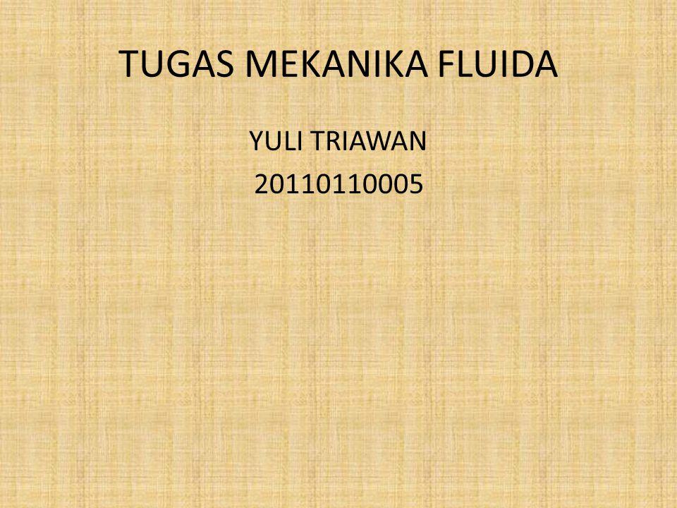 TUGAS MEKANIKA FLUIDA YULI TRIAWAN 20110110005