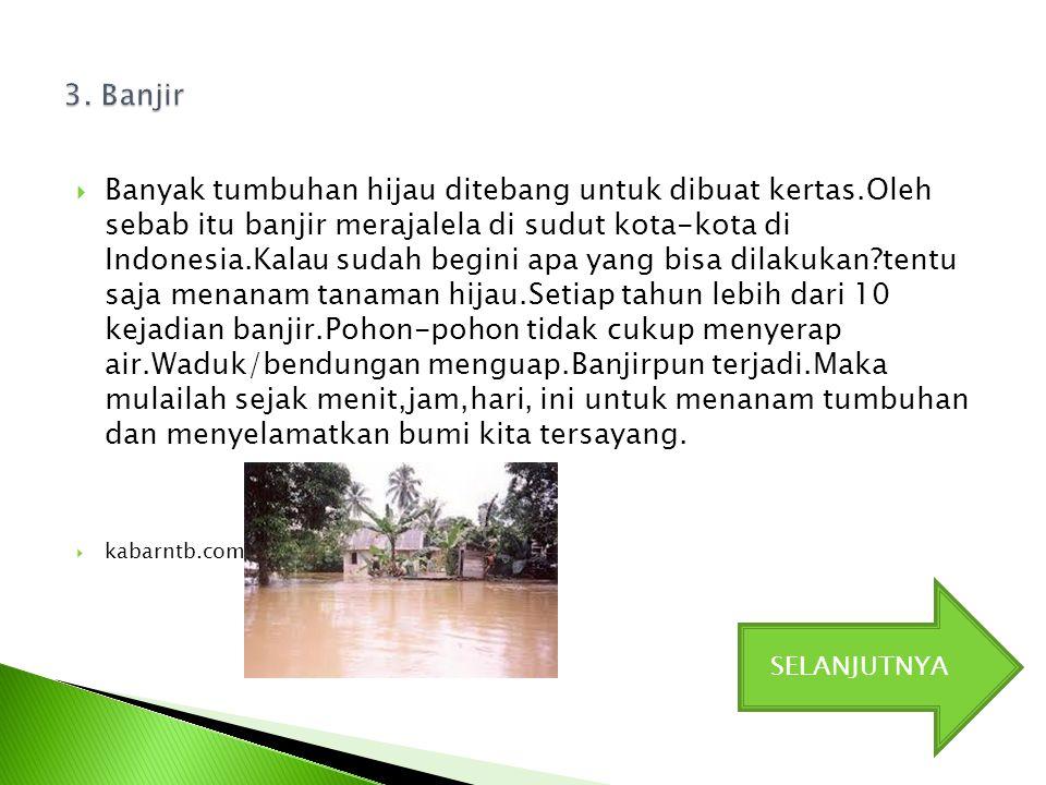 3. Banjir