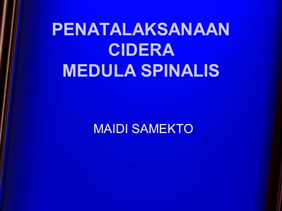 PENATALAKSANAAN CIDERA MEDULA SPINALIS