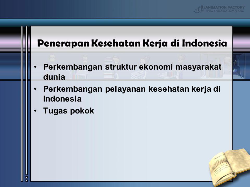 Penerapan Kesehatan Kerja di Indonesia