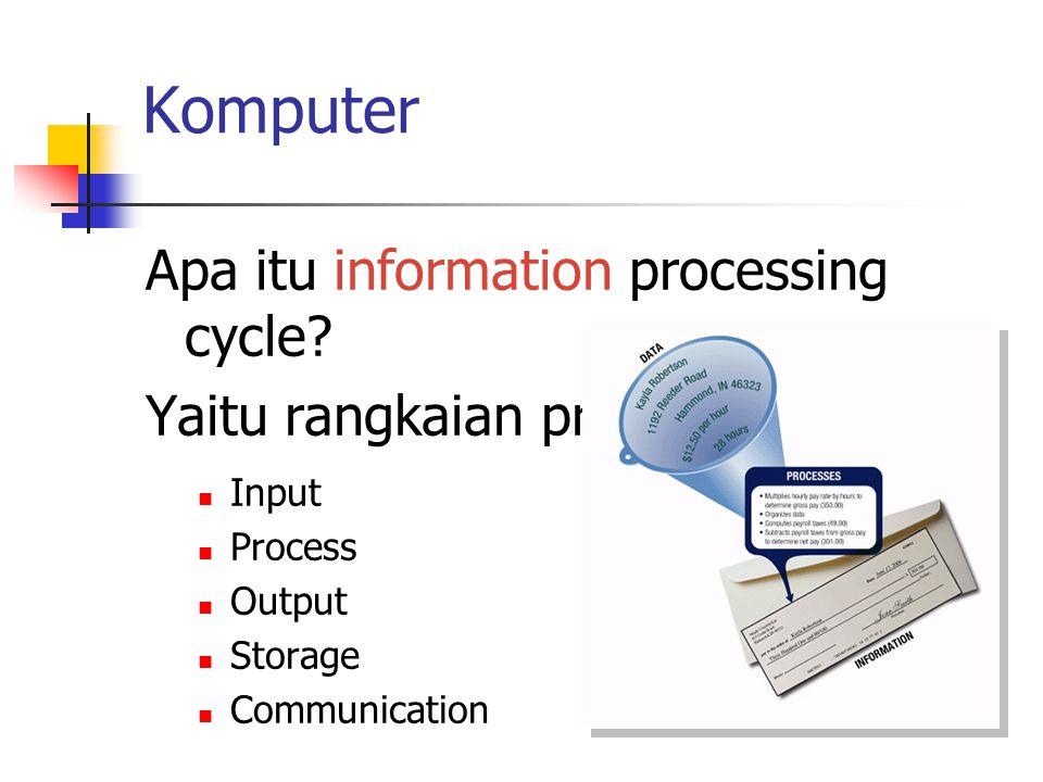 Komputer Apa itu information processing cycle