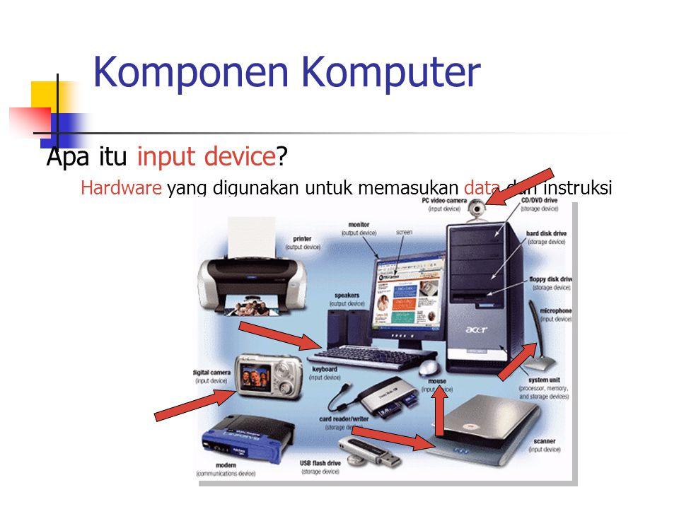 Komponen Komputer Apa itu input device