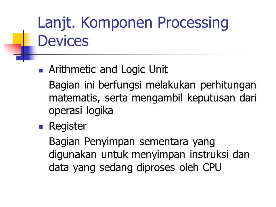 Lanjt. Komponen Processing Devices