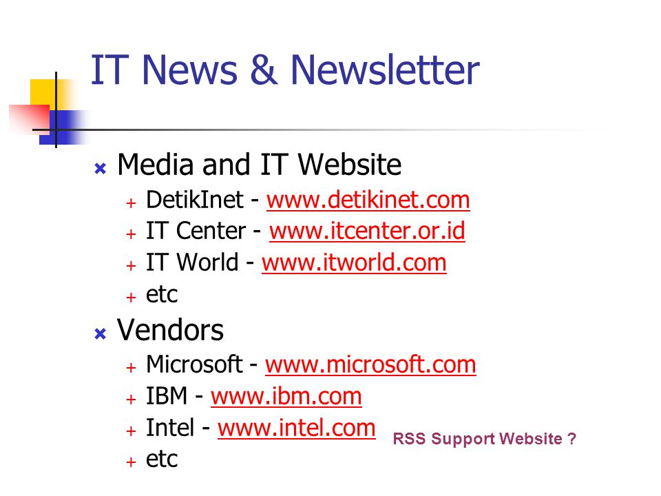IT News & Newsletter Media and IT Website Vendors