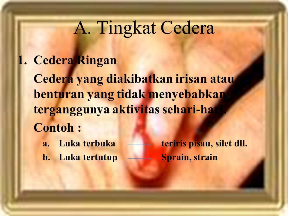 A. Tingkat Cedera Cedera Ringan