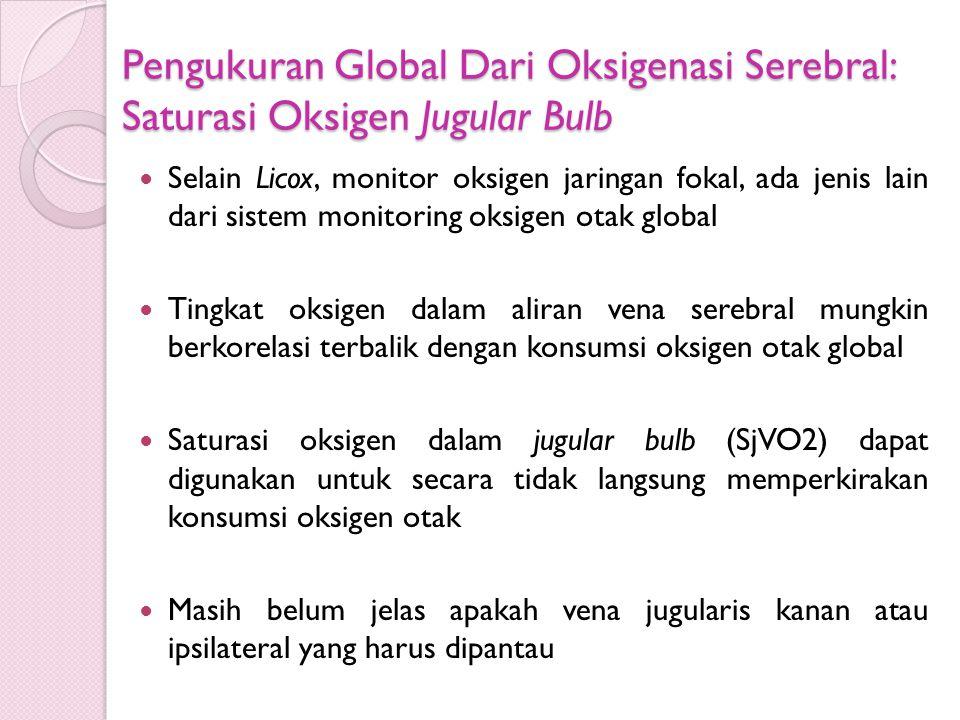 Pengukuran Global Dari Oksigenasi Serebral: Saturasi Oksigen Jugular Bulb