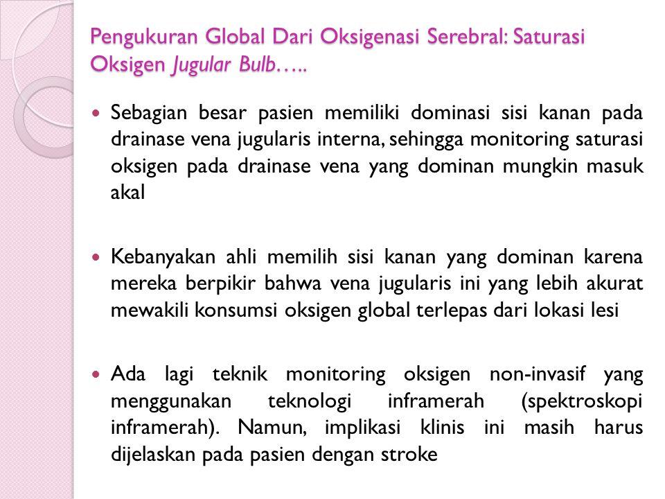 Pengukuran Global Dari Oksigenasi Serebral: Saturasi Oksigen Jugular Bulb…..