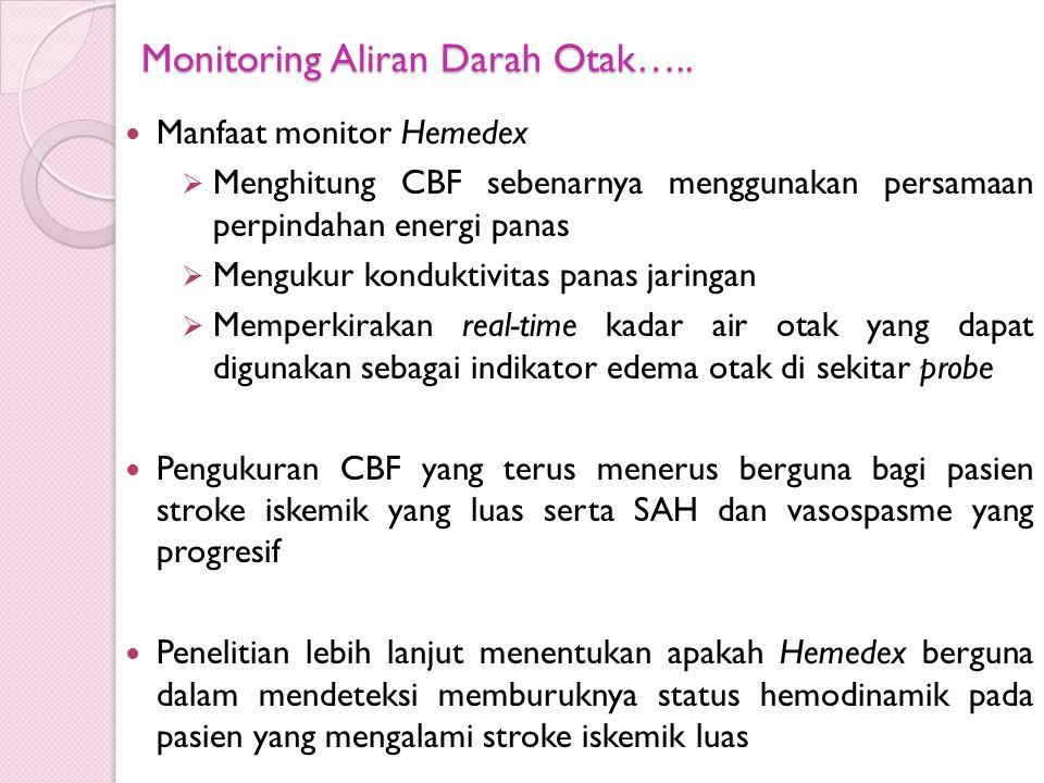 Monitoring Aliran Darah Otak…..