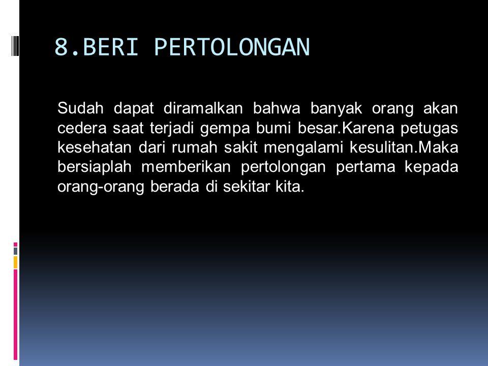 8.BERI PERTOLONGAN
