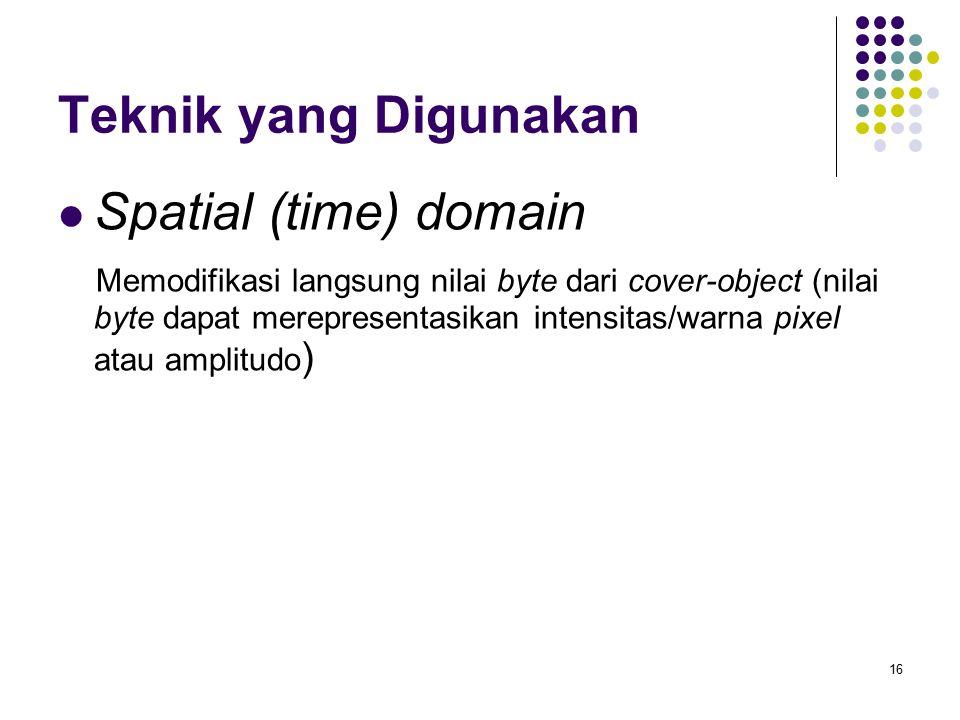 Teknik yang Digunakan Spatial (time) domain