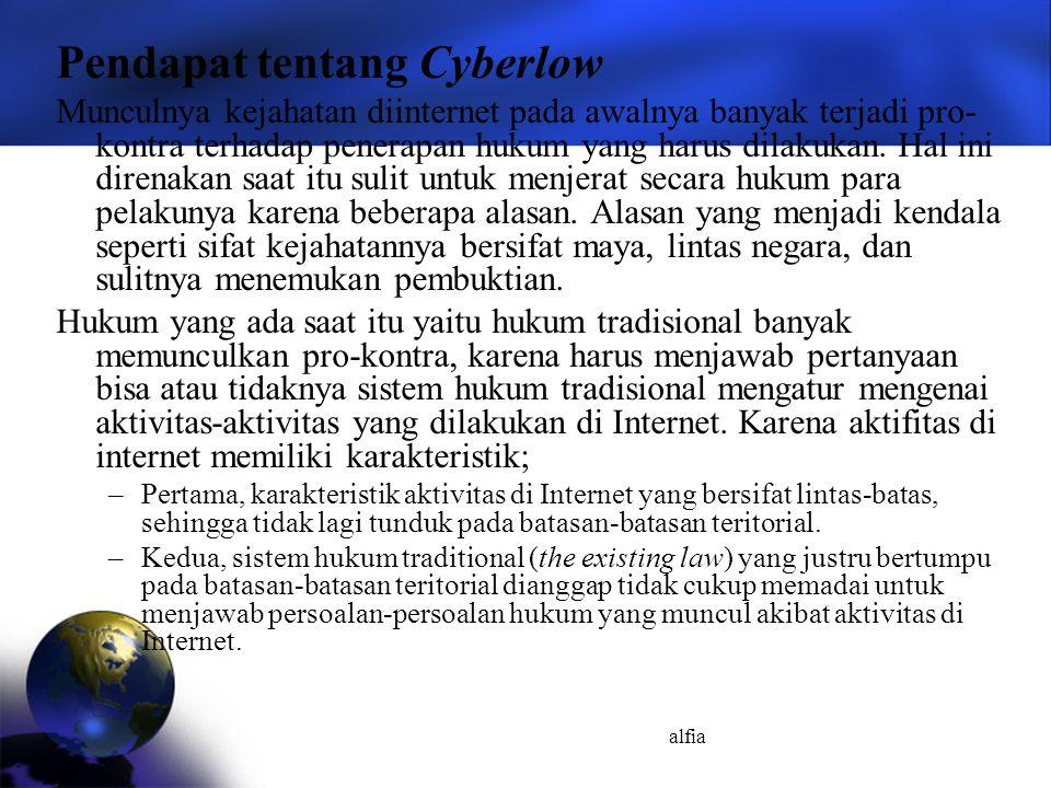 Pendapat tentang Cyberlow