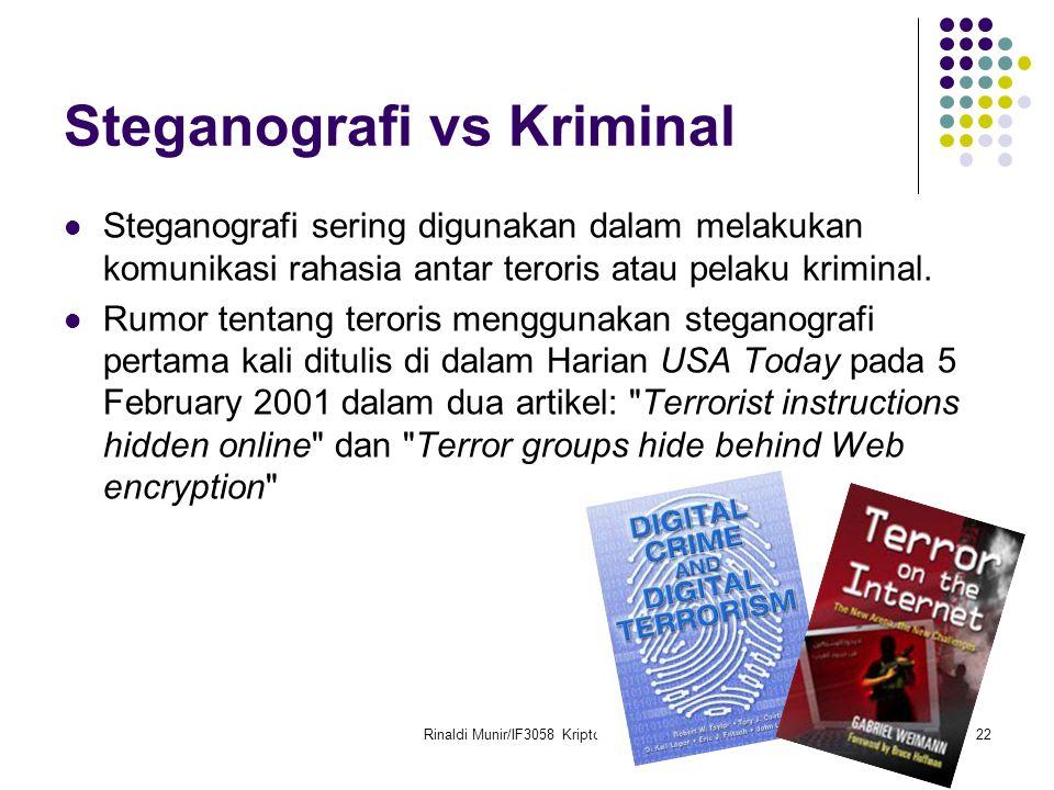 Steganografi vs Kriminal