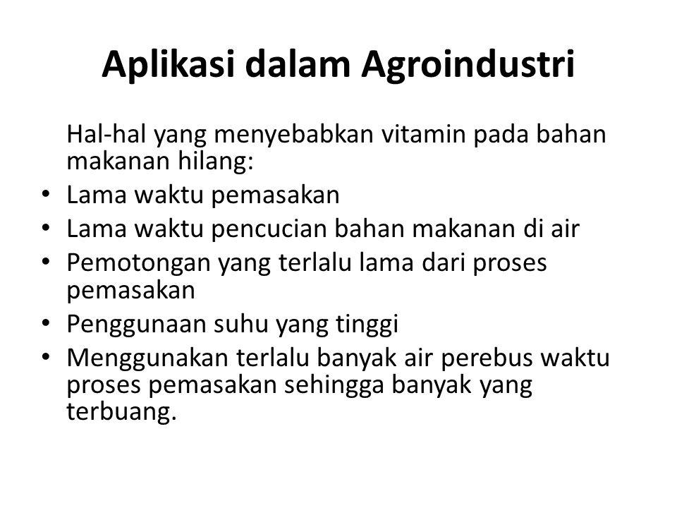 Aplikasi dalam Agroindustri