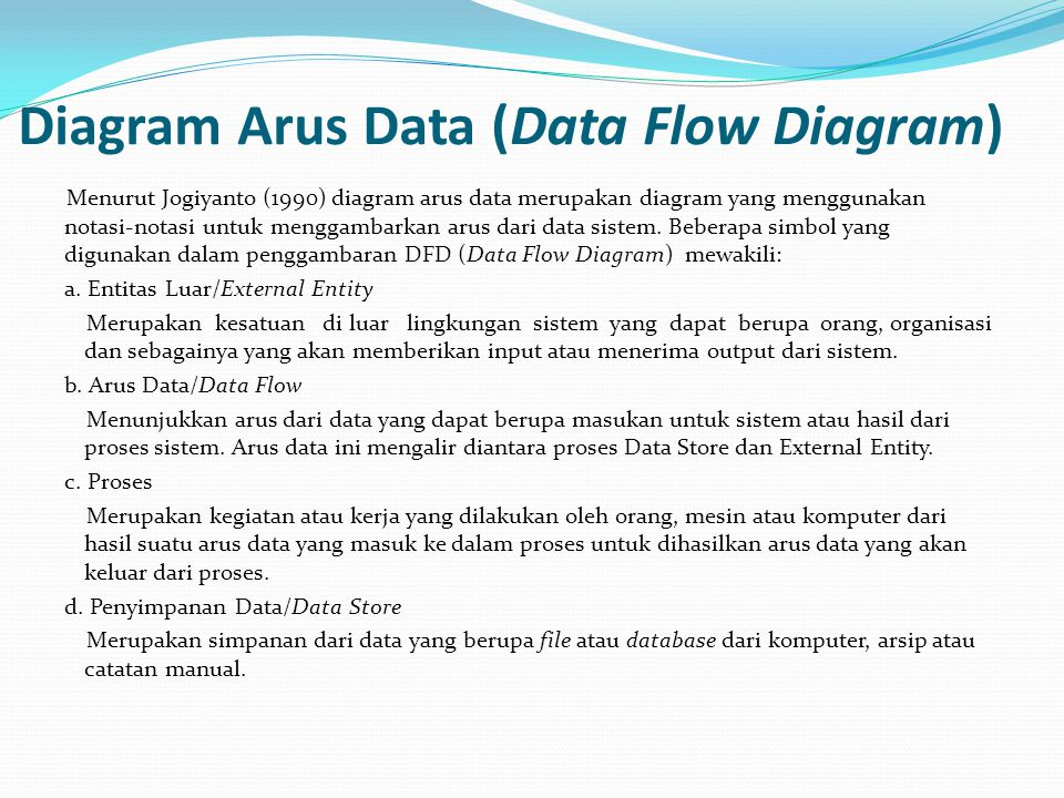 Diagram Arus Data (Data Flow Diagram)